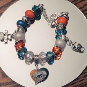 Jewelry - Miami Dolphins Charm Bracelet.